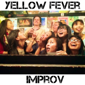 We Are Thomasse and Billy Galewood at Yellow Fever's Super OFf Broadway singing songs at the Inner Sanctum Cafe at UCB Sunset