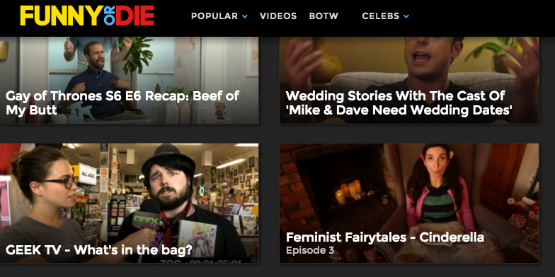 Feminist Fairytales - Cinderella by We Are Thomasse featured on the Funny or Die homepage