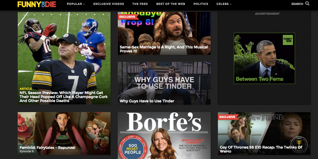 """We Are Thomasse's """"Feminist Fairytales: Rapunzel"""" is featured on Funny or Die's homepage!"""