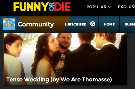 Tense Wedding by We Are Thomasse featured on FunnyOrDie.com