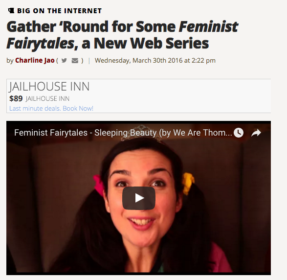 themarysue.com fetaured feminist fairytales by we are thomasse