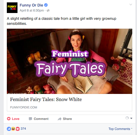 funny or die features feminist fairytales by we are thomasse and sarah ann masse on facebook and twitter