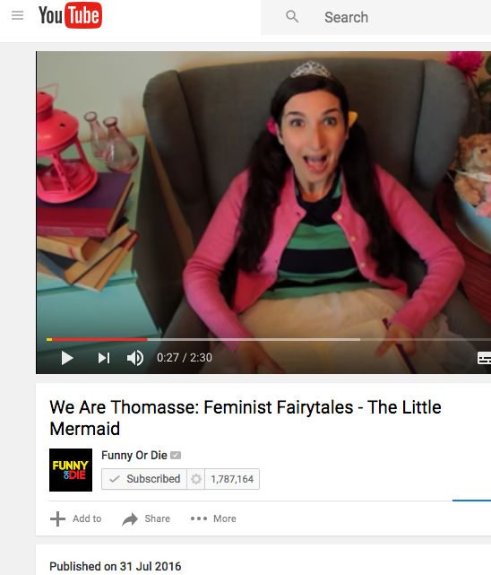 feminist fairytales - the little mermaid by we are thomasse featured on funny or die's youtube channel