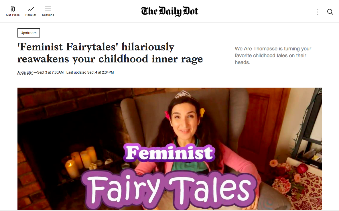 we are thomasse's feminist fairytales featured on the daily dot
