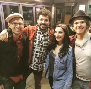 L to R Eric Schwartz, Billy Galewood, Sarah Ann Masse & Nick Afka Thomas (We Are Thomasse)