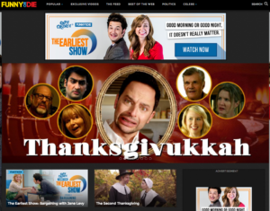 we are thomasse on funny or die's front page with the second thanksgiving